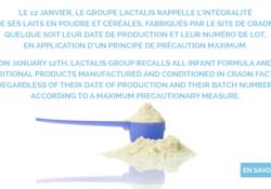 Le retrait de lot en pharmacie, l'exemple de Lactalis